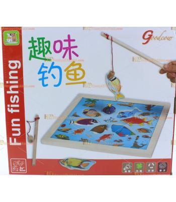 Toptan ahşap eğitici oyuncak balık avlama TOY6949