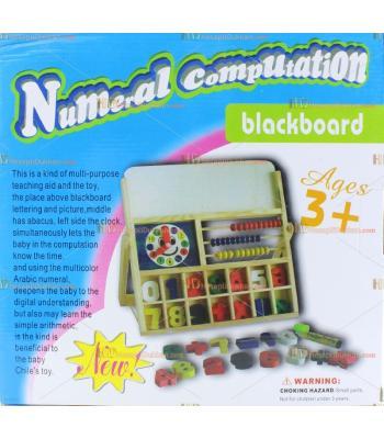 Toptan saatli rakamlı abaküslü kalemli yazı tahtalı ahşap eğitici oyuncak