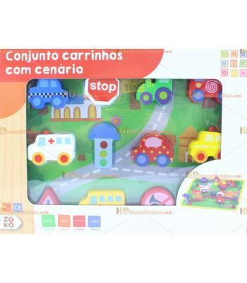 Toptan trafik set eğitici ahşap oyuncak araçlar ipe dizmeli fonksiyonel