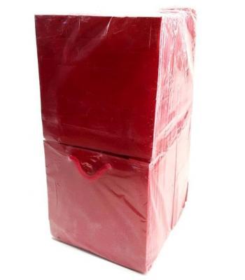 Toptan 11*11 Karton Çanta 50'li Düz Kırmızı