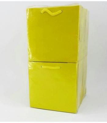 Toptan 11*11 Karton Çanta 50'li Düz Sarı
