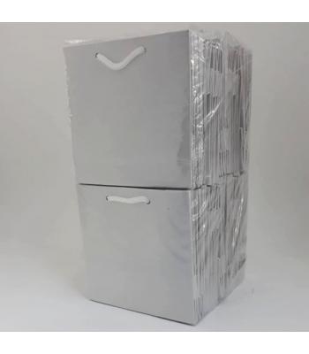 Toptan 11*11 Karton Çanta 50'li Düz Beyaz