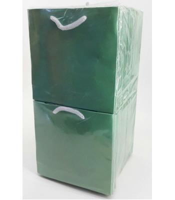 Toptan 11*11 Karton Çanta 50'li Düz Mint Yeşil