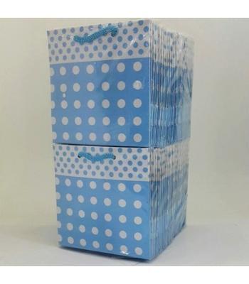 Toptan 11*11 Karton Çanta 50'li Mavi Puantiyelli