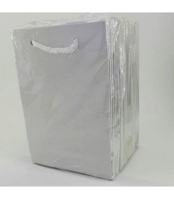 Toptan 12*17 Karton Çanta 25'li Düz Beyaz