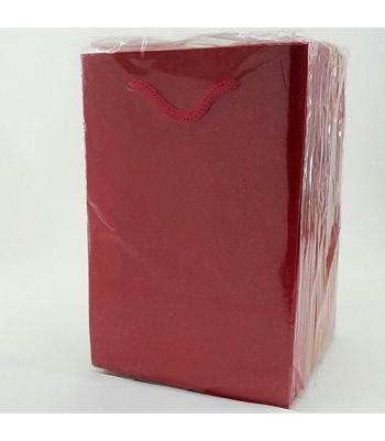 Toptan 12*17 Karton Çanta 25'li Düz Kırmızı