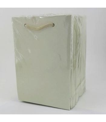 Toptan 12*17 Karton Çanta 25'li Düz Krem