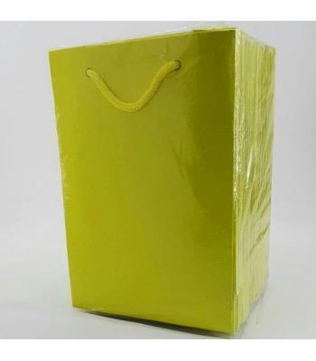 Toptan 12*17 Karton Çanta 25'li Düz Sarı