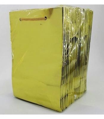 Toptan 14*17 Karton Çanta 25'li Gold