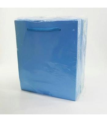 Toptan 14*17 Karton Çanta 25'li Düz Mavi