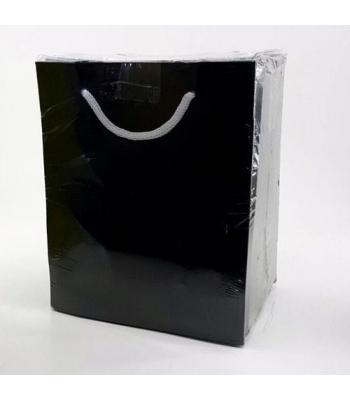 Toptan 14*17 Karton Çanta Düz Siyah 25'Lİ Çanta