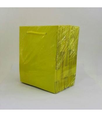 Toptan 14*17 Karton Çanta 25'li Sarı
