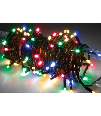 4 Metre Siyah Kablo Karışık Renk Yılbaşı Işık