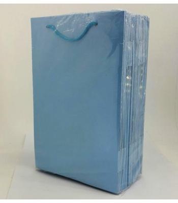 Toptan 17*25 Karton Çanta 25'li Düz Mavi