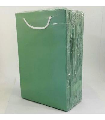 Toptan 17*25 Karton Çanta 25'li Düz Yeşil
