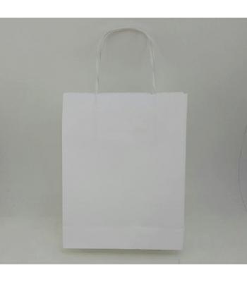 Toptan 9x24 Büküm Sap Çanta 25'li Beyaz