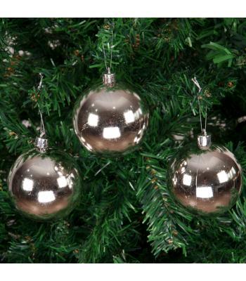 Yılbaşı Ağacı Süsü Parlak Gümüş Cici Toplar 7 cm 6 lı Paket