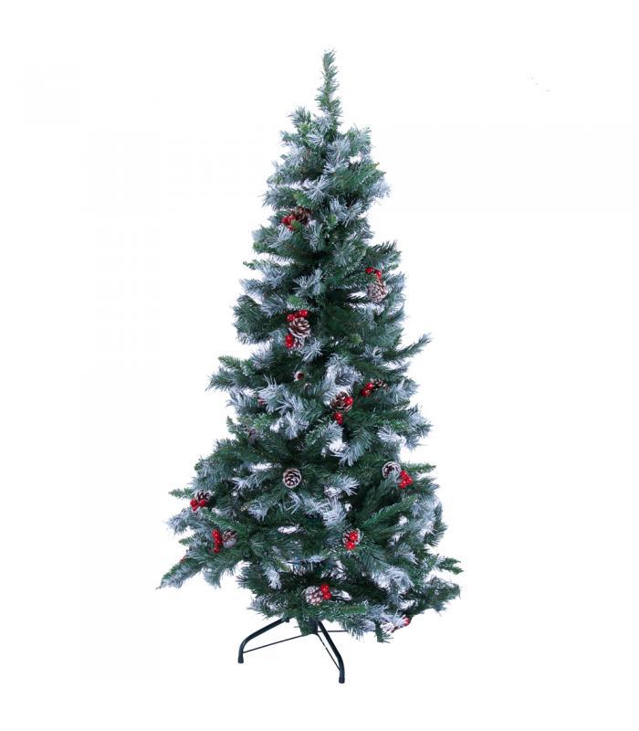 150 cm iğne yaprak kozalaklı karlı yılbaşı ağacı