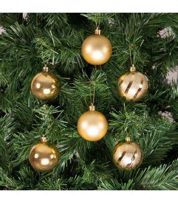 Yılbaşı Ağacı Süsü Lüks Altın Süsleme Seti 6 cm