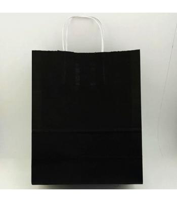 Toptan 25X31 Büküm Saplı Çanta 25'li Siyah