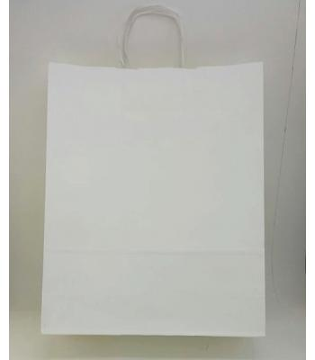 Toptan 32x40 Büküm Saplı Çanta 25'li Beyaz