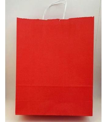 Toptan 32x40 Büküm Saplı Çanta 25'li Kırmızı