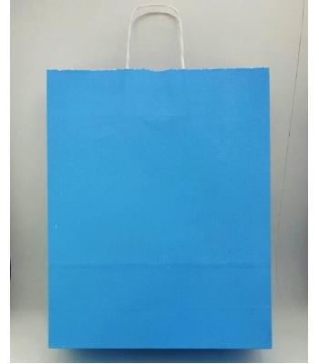 Toptan 32x40 Büküm Saplı Çanta 25'li Mavi