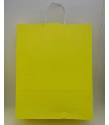 Toptan 32x40 Büküm Saplı Çanta 25'li Sarı