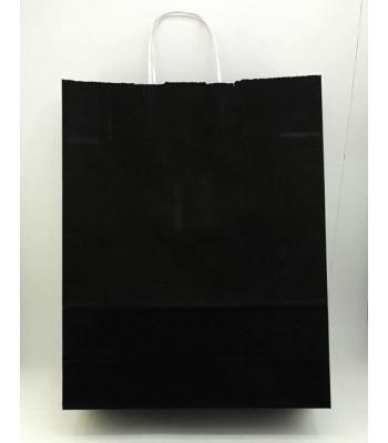 Toptan 32x40 Büküm Saplı Çanta 25'li Siyah