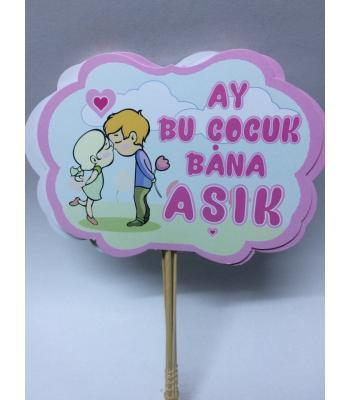 Toptan Ay Bu Çocuk Bana Aşık Konuşma Balonu
