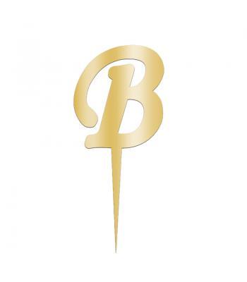 Toptan Pleksi Harf Aynalı Altın B