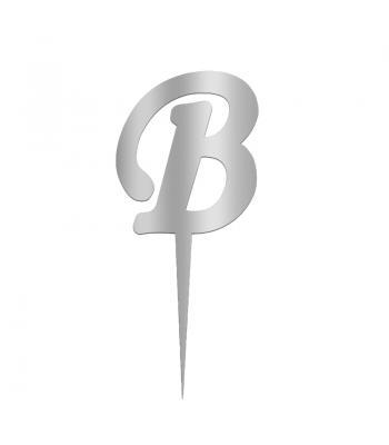 Toptan Pleksi Harf Aynalı Gümüş B