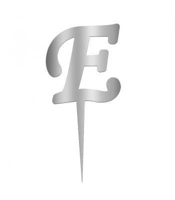 Toptan Pleksi Harf Aynalı Gümüş E