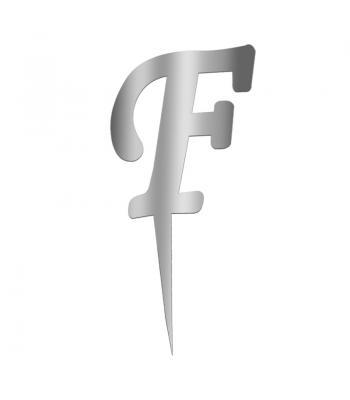 Toptan Pleksi Harf Aynalı Gümüş F