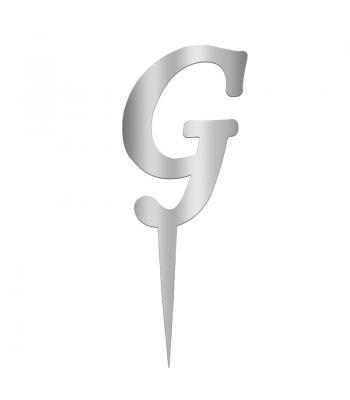 Toptan Pleksi Harf Aynalı Gümüş G