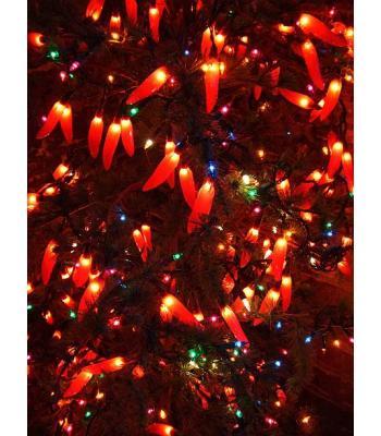 Kırmızı biber yılbaşı ışığı 2,5 Metre