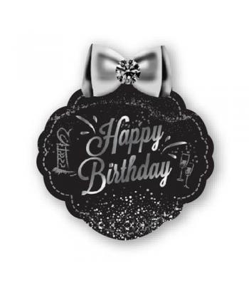 Toptan Gümüş Happy Birthday Konuşma Balonu