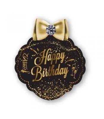 Toptan Gold Happy Birthday Konuşma Balonu