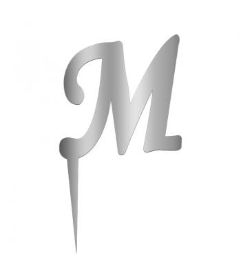 Toptan Pleksi Harf Aynalı Gümüş M