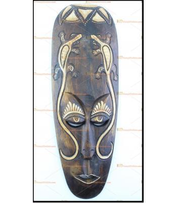 Toptan ucuz Afrika maskesi otantik ahşap hediyelik eşya