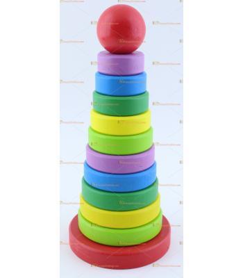Toptan fiyat ahşap eğitici oyuncak kule büyük boy
