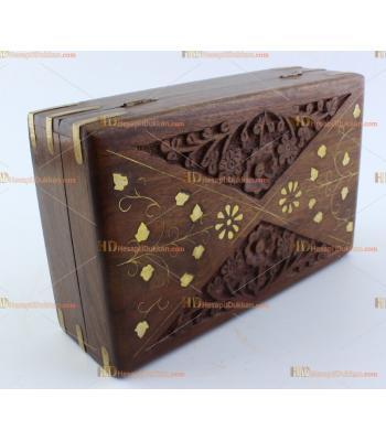 Toptan hediyelik ahşap kutu orta boy