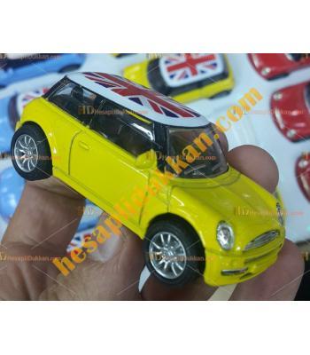 Toptan bayraklı mini cooper çek bırak oyuncak araba