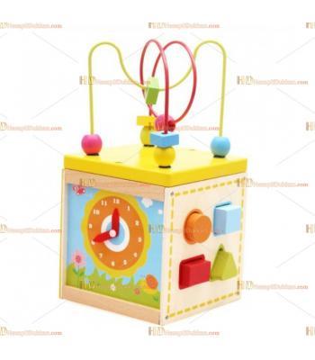 Toptan fiyat multi fonksiyonel ahşap eğitici oyuncak kutu
