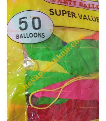 Toptan en ucuz ipli lastikli balon 50 li paket 5 TL