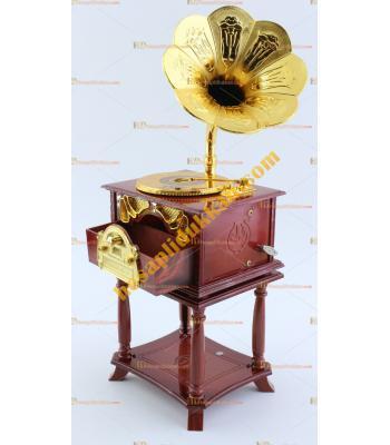 Gramofon müzik kutusu ayaklı model toptan hediyelik eşya