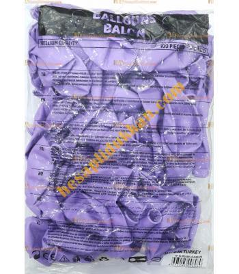 Toptan 12 inc iç mekan lila balon 100 lü