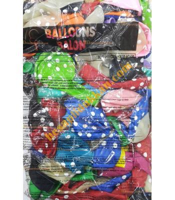 Toptan puanlı karışık renk baskılı balon