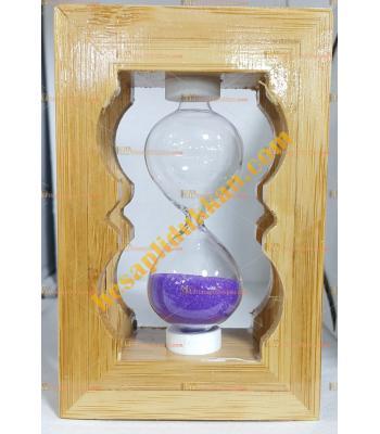 Toptan hediyelik eşya kum saati küçük bambu
