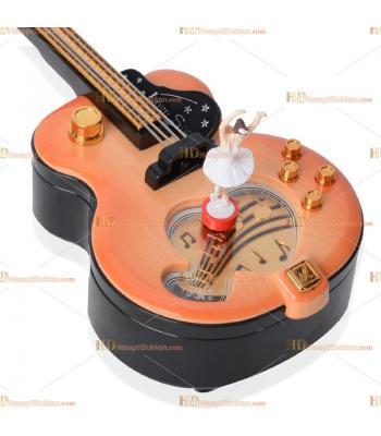 Toptan fiyat hediyelik eşya gitar müzik kutusu dans eden balerin kurmalı